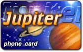 Jupiter phone card