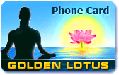 Golden Lotus phone card, Golden Lotus calling card
