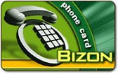 Bizon phone card, Bizon calling card