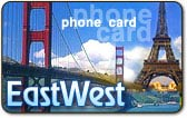 EastWest phone card, EastWest calling card